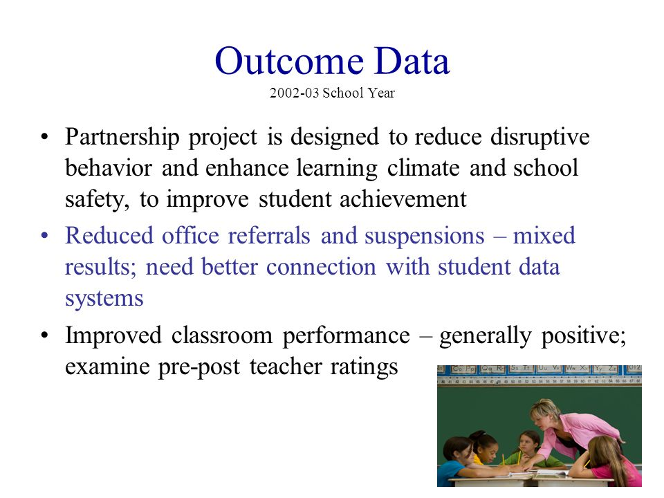 Outcome Data 2002-03 School Year