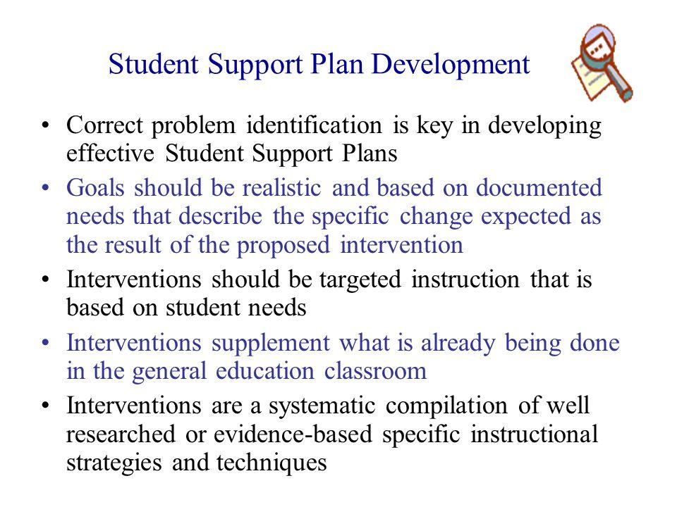 Student Support Plan Development