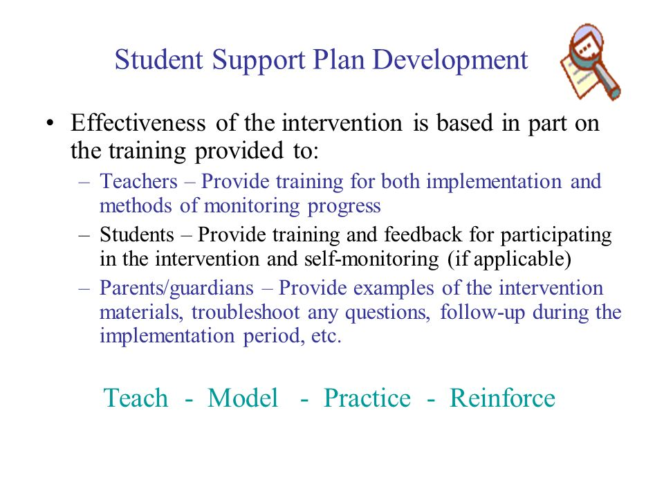 Student Support Plan Development