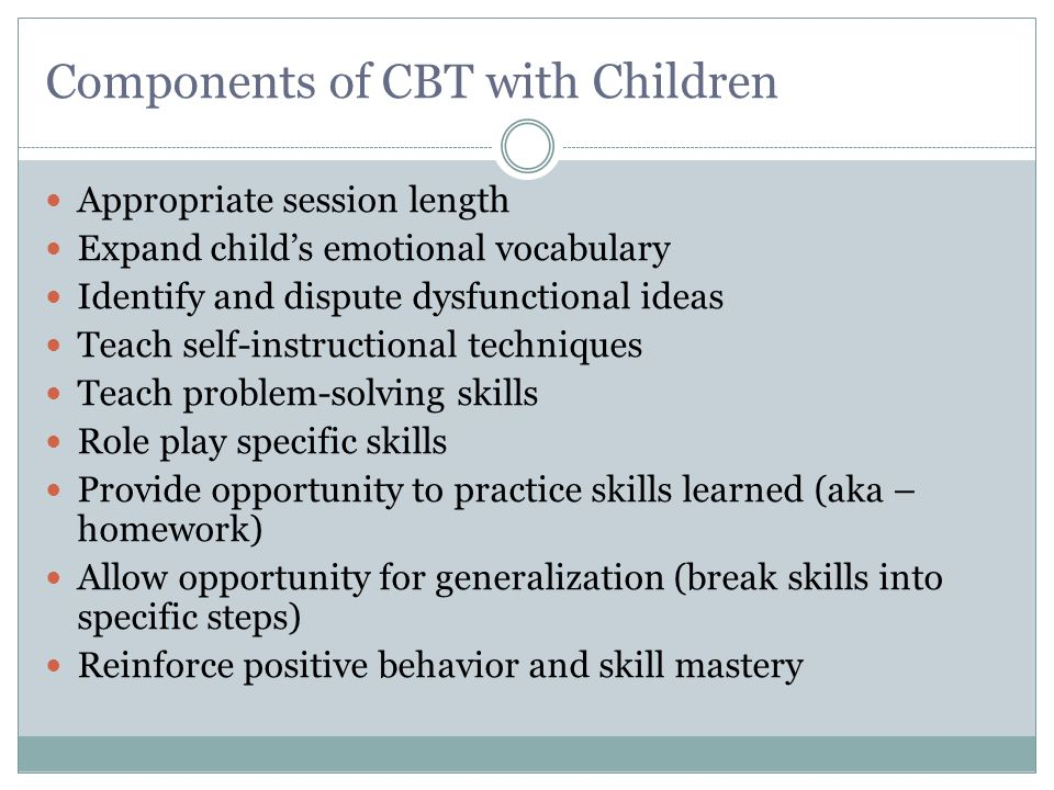 Components of CBT with Children