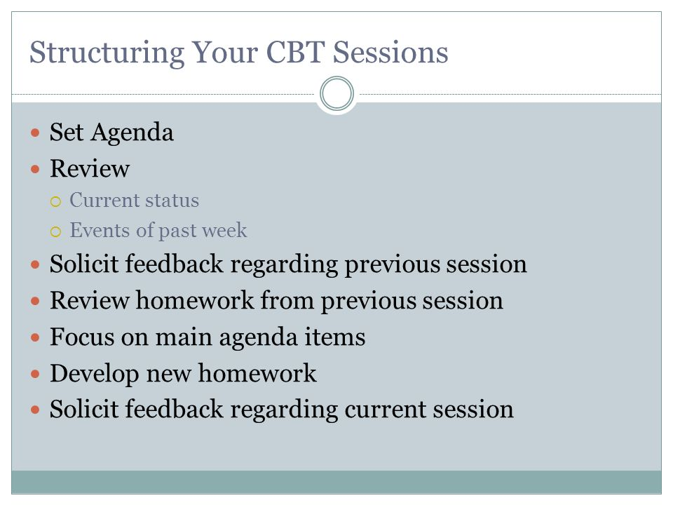 Structuring Your CBT Sessions