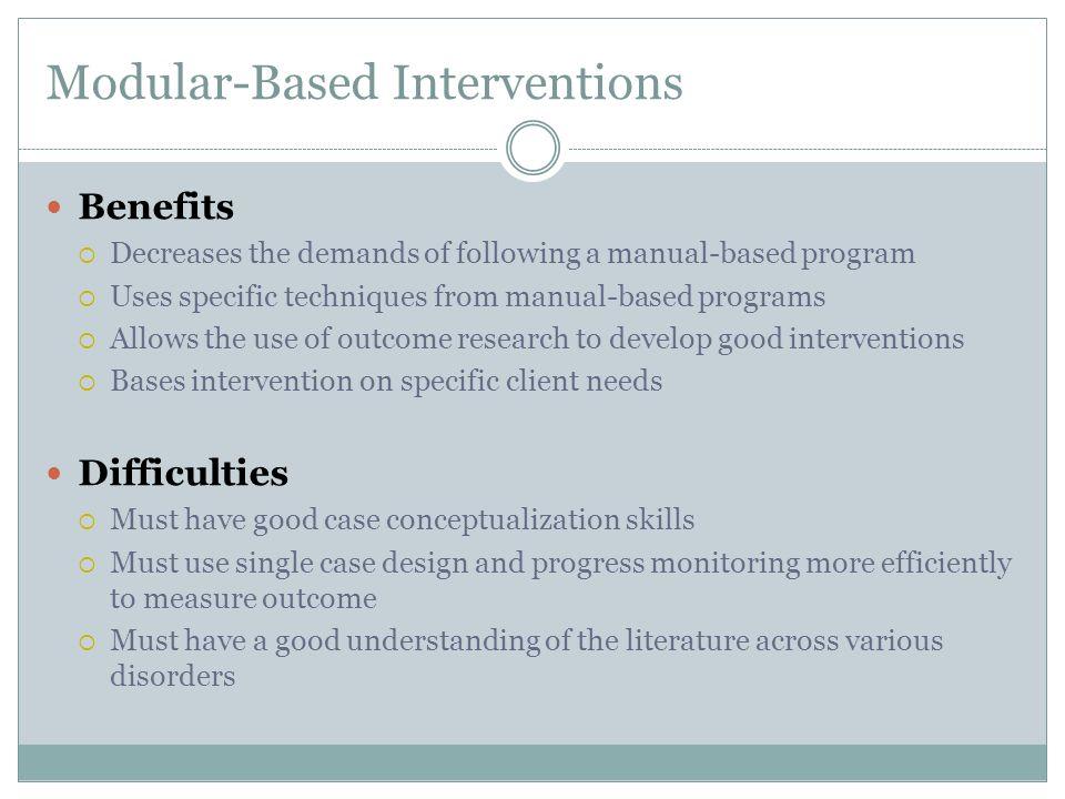 Modular-Based Interventions