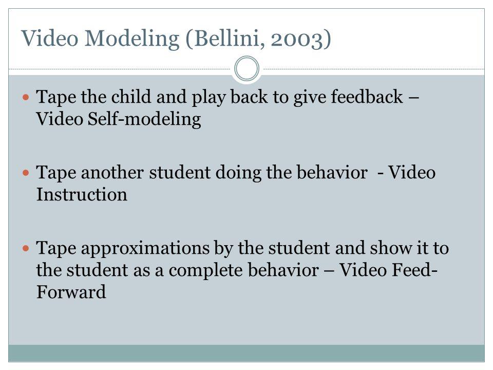 Video Modeling (Bellini, 2003)