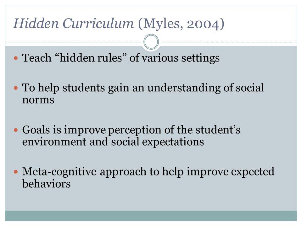 Hidden Curriculum (Myles, 2004)