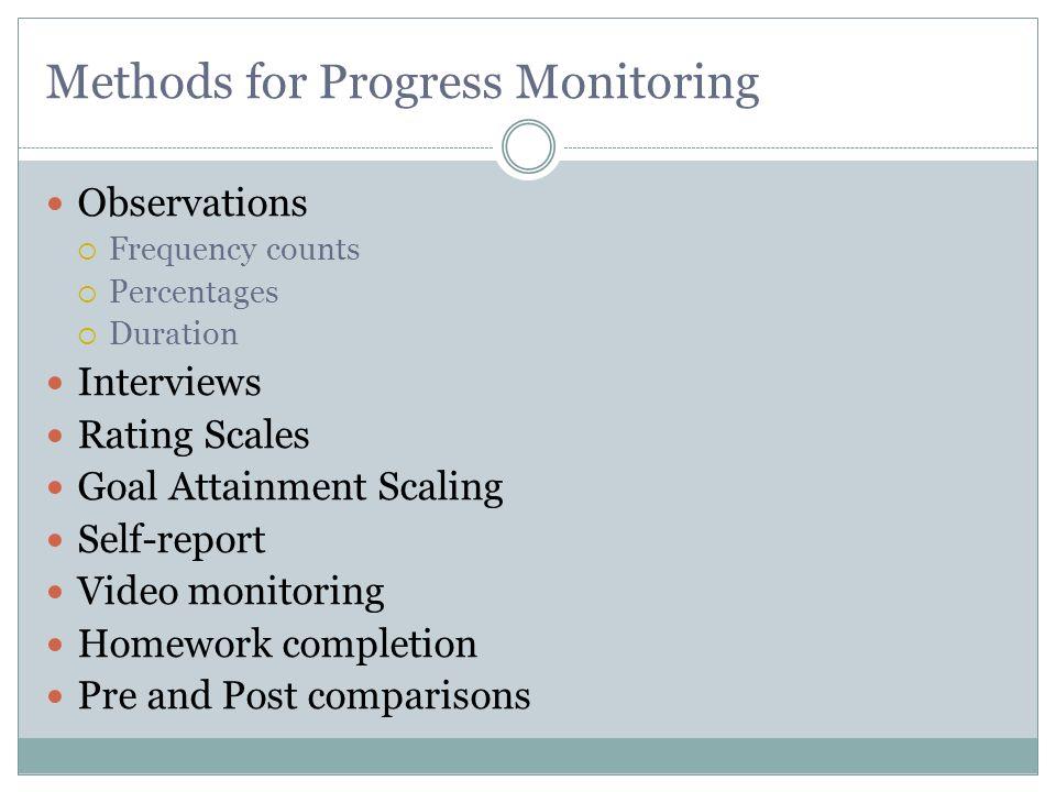 Methods for Progress Monitoring