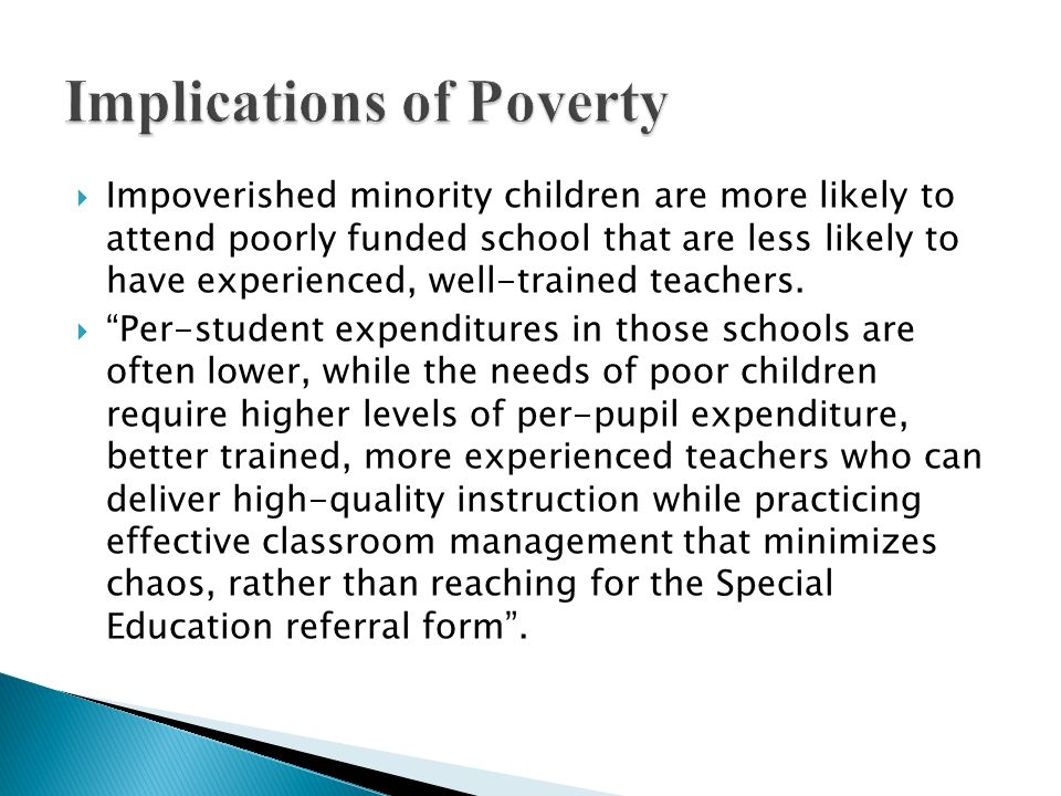 Implications of Poverty