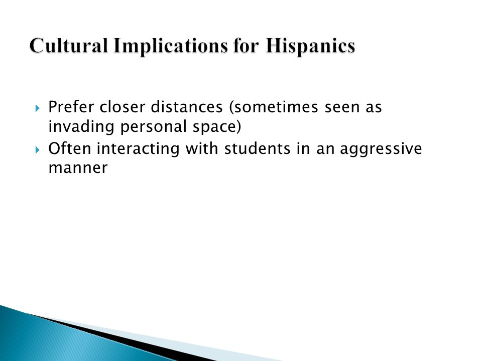 Cultural Implications for Hispanics
