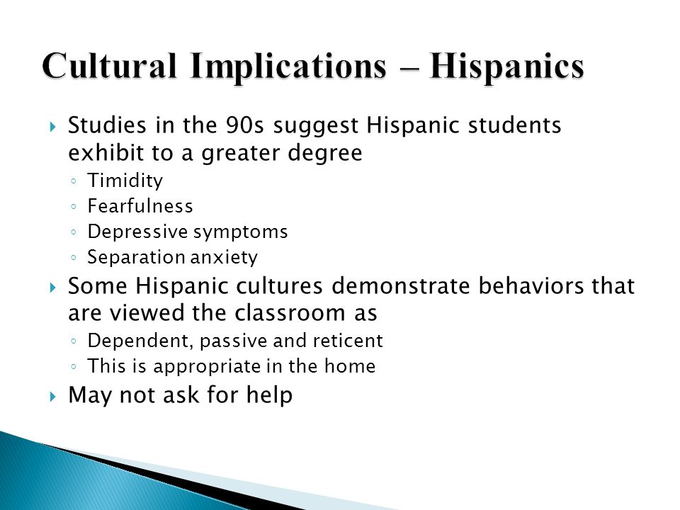 Cultural Implications – Hispanics
