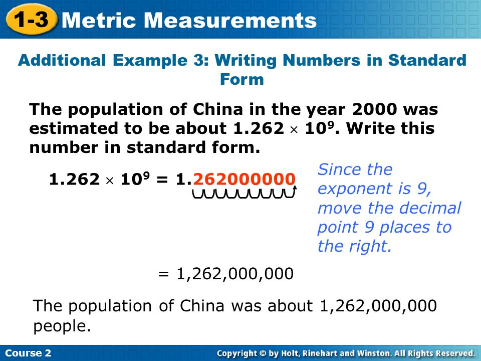 writing numbers in standard form Write the standard form of: (i) 20000 + 7000 + 400 + 20 + 2 = 27422  are the  above examples converting the expanded form of numbers to standard form.
