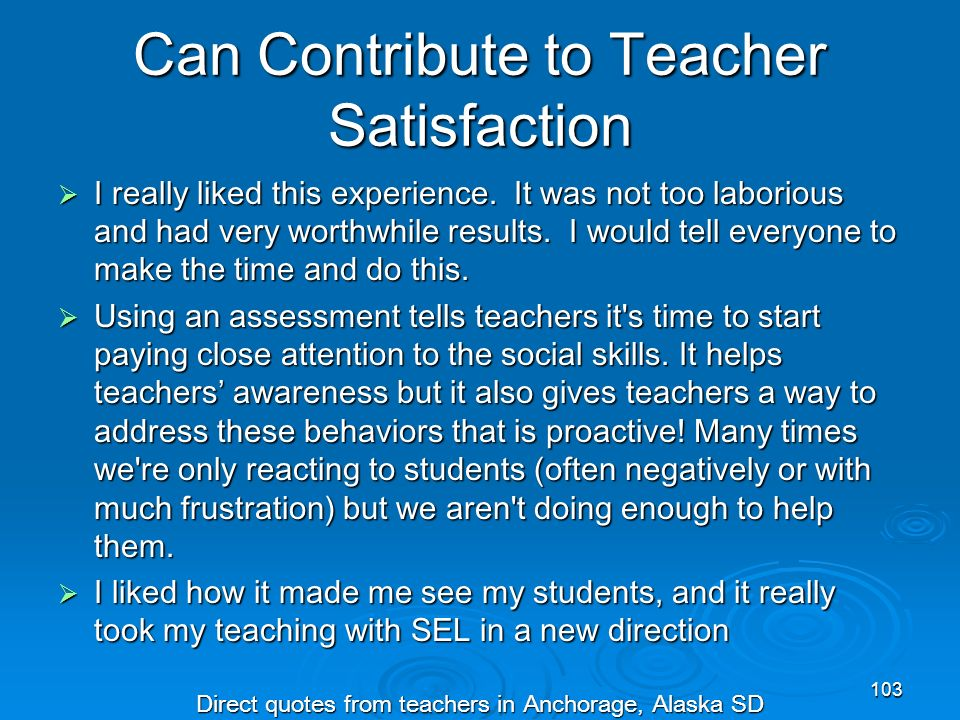 Can Contribute to Teacher Satisfaction