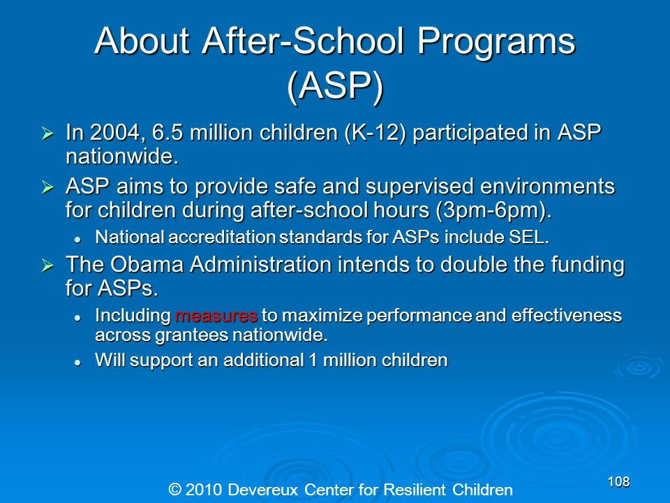 About After-School Programs (ASP)