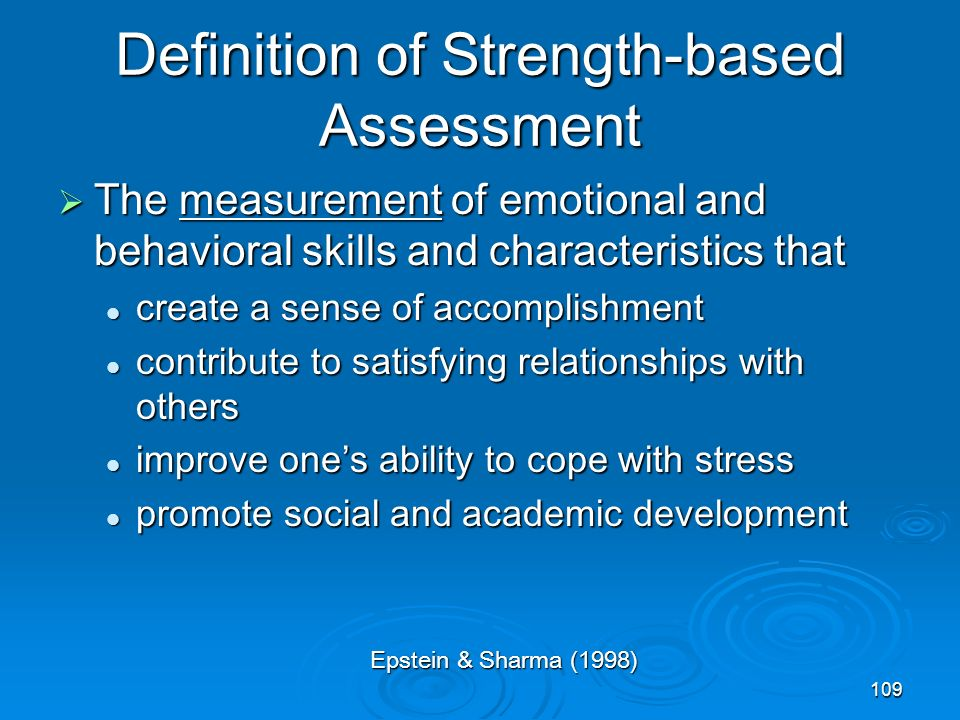 Definition of Strength-based Assessment