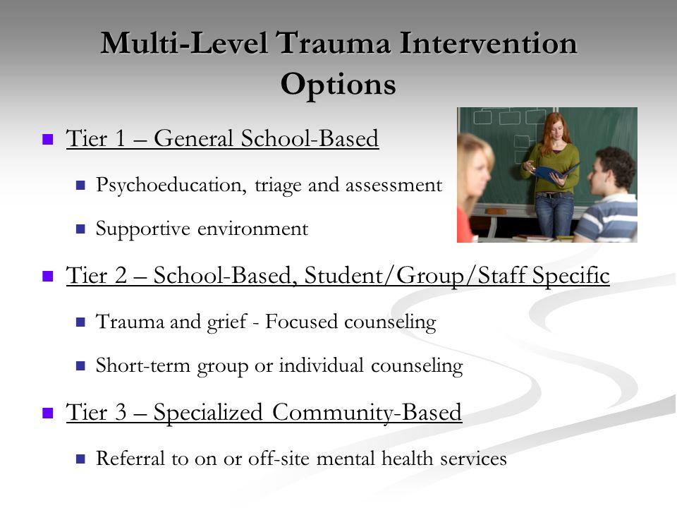 Multi-Level Trauma Intervention Options