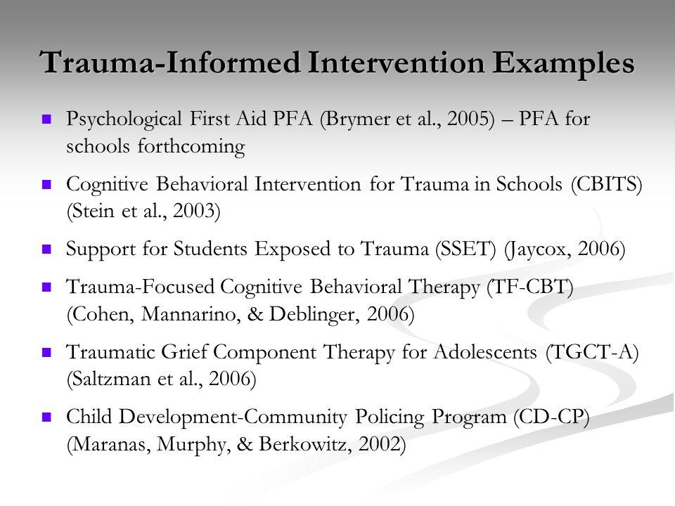 Trauma-Informed Intervention Examples
