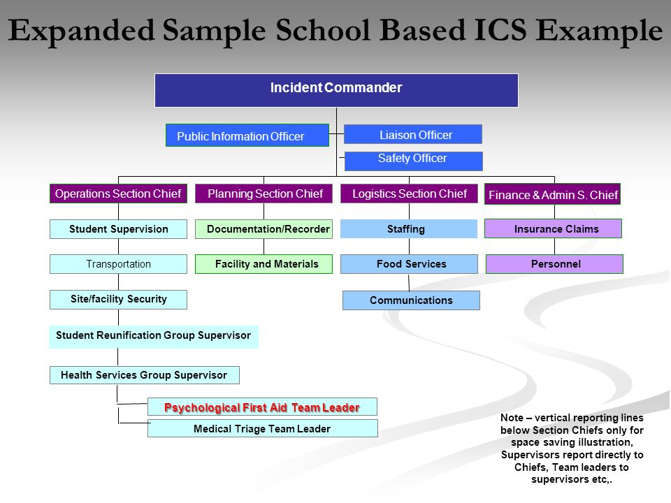 Expanded Sample School Based ICS Example