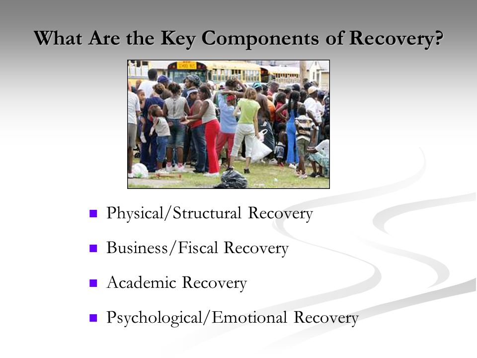 What Are the Key Components of Recovery