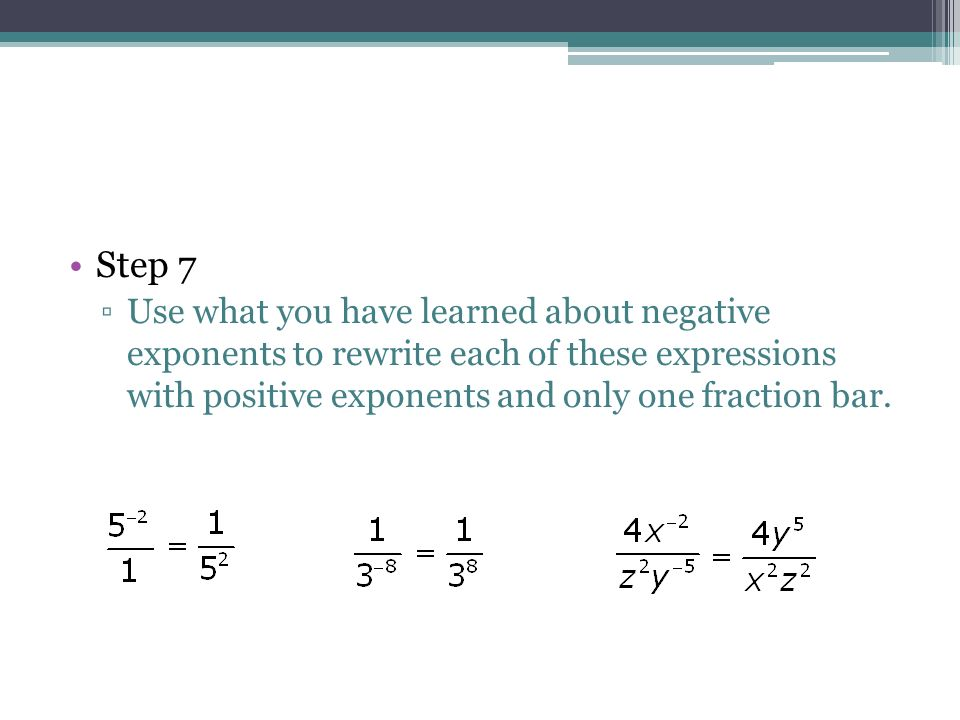 algebra expression positive negative and zero Simplifying expressions with negative exponents with focus on whether the solution will be positive or negative zero and negative exponents algebra exponents.