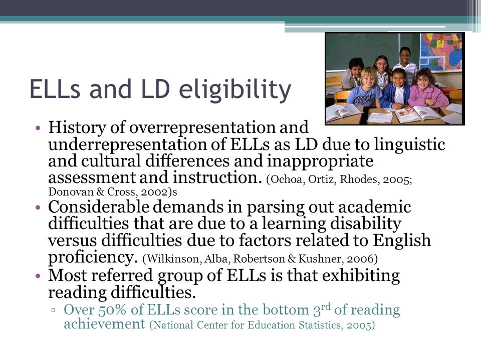 ELLs and LD eligibility