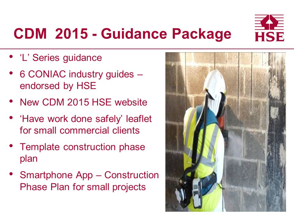 Cdm 2015 hse s perspective health and safety executive for Cdm construction phase plan template