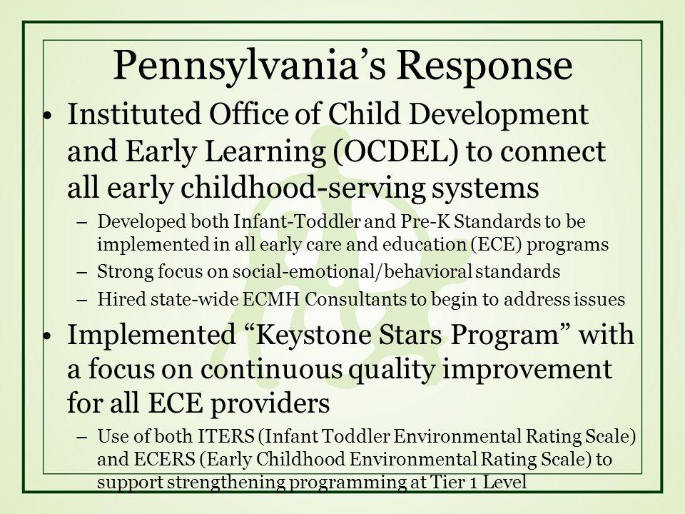 Pennsylvania's Response