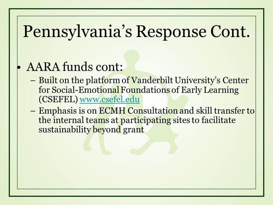 Pennsylvania's Response Cont.