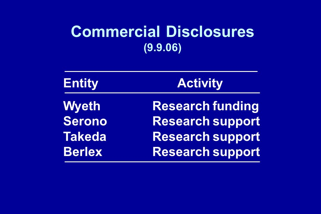 Commercial Disclosures (9.9.06)