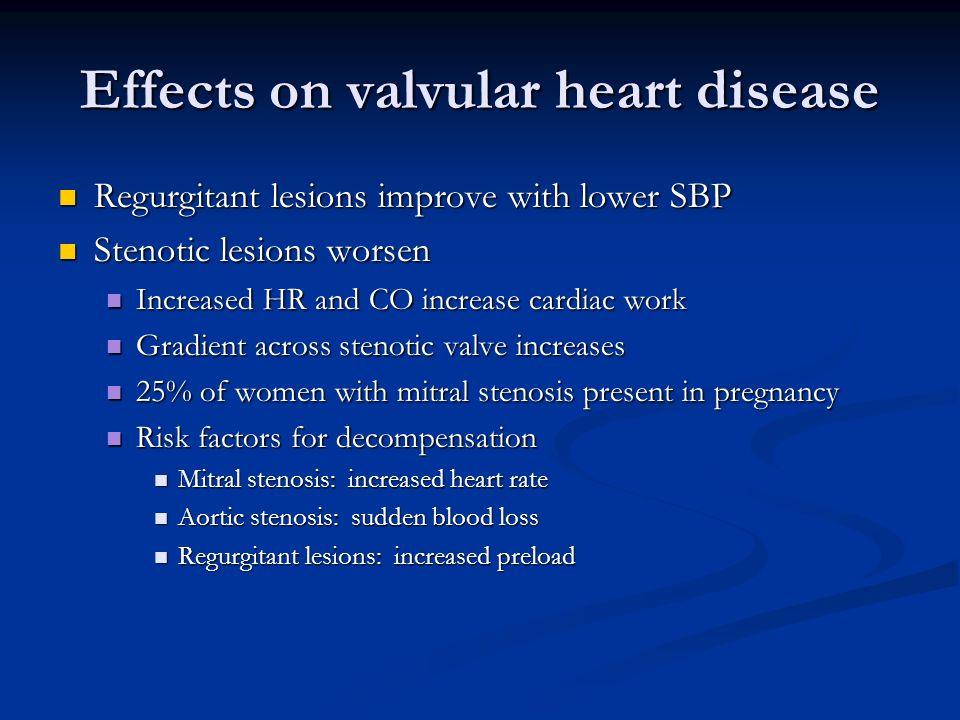 Effects on valvular heart disease