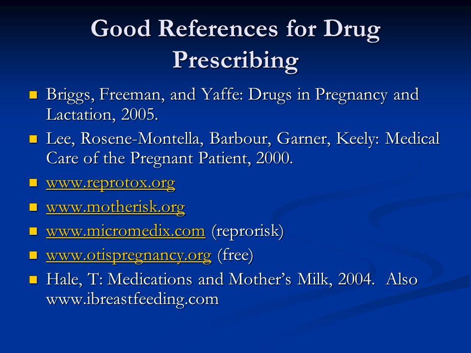 Good References for Drug Prescribing