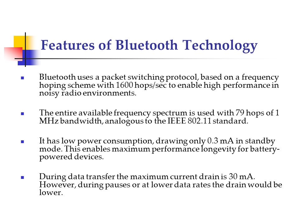 features of bluetooth technology essay