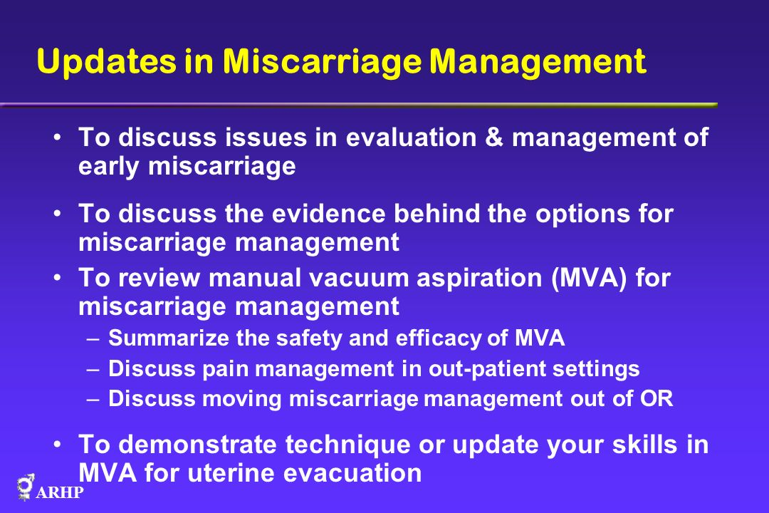 Updates in Miscarriage Management