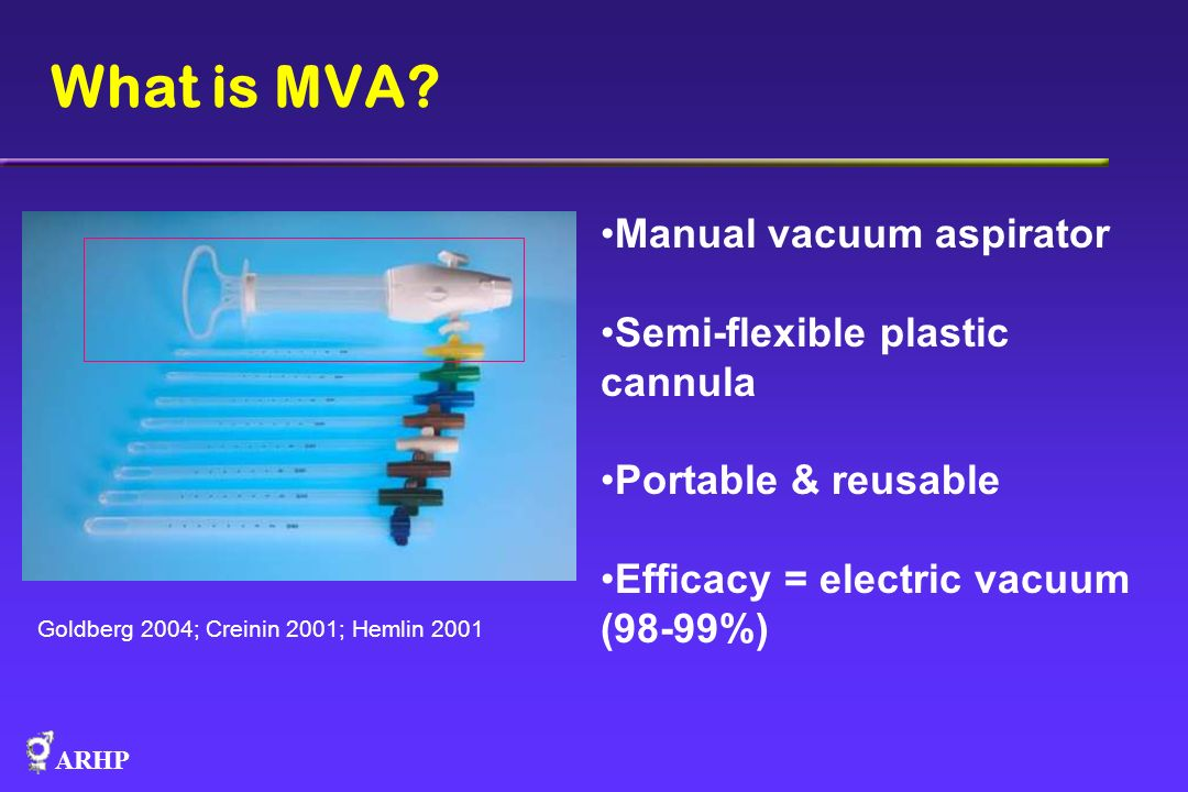 What is MVA Manual vacuum aspirator Semi-flexible plastic cannula