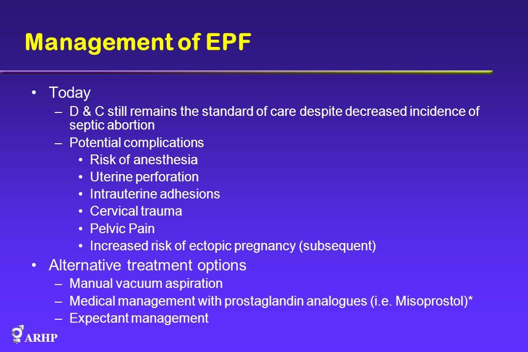 Management of EPF Today Alternative treatment options