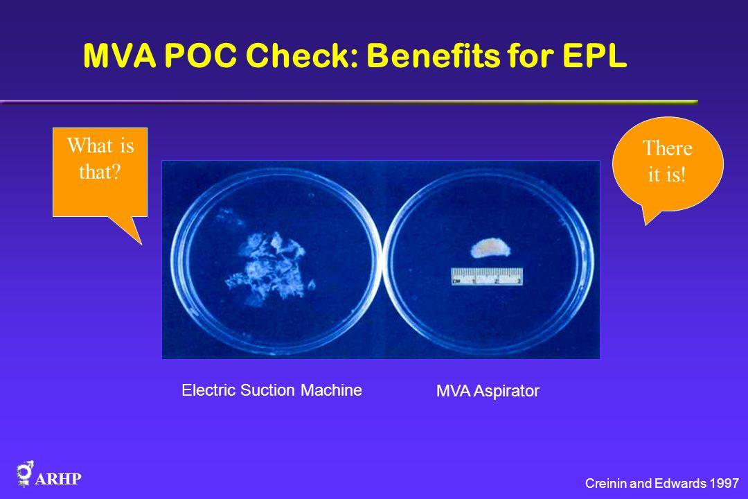MVA POC Check: Benefits for EPL