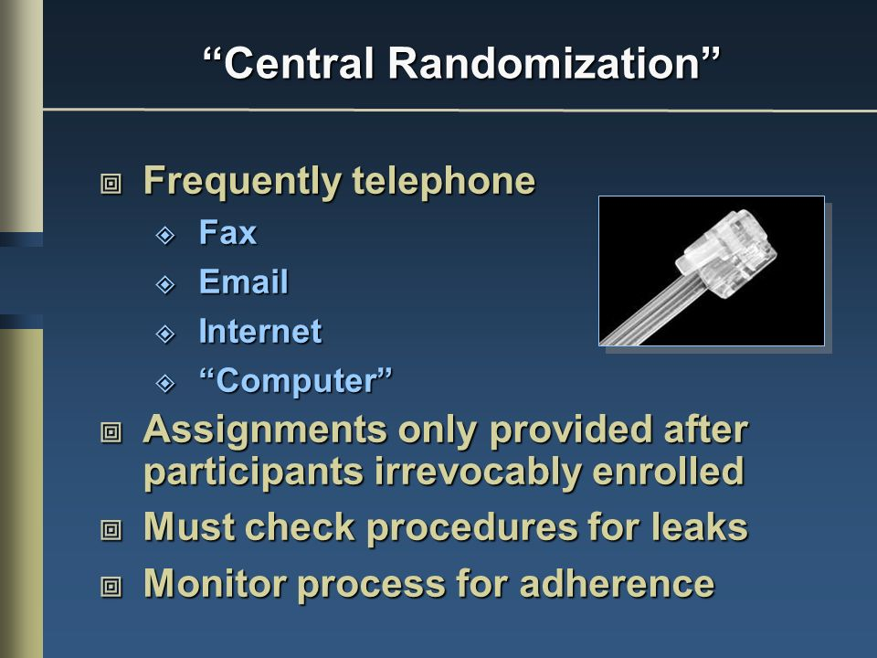 Central Randomization