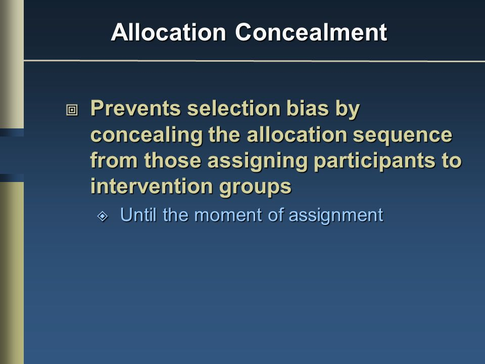 Allocation Concealment