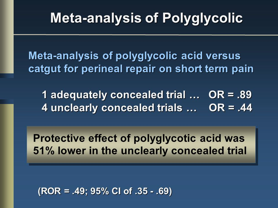 Meta-analysis of Polyglycolic