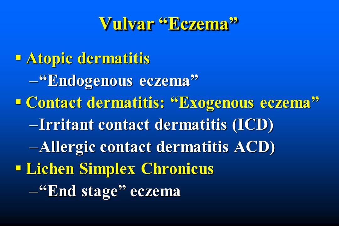 Vulvar Eczema Atopic dermatitis Endogenous eczema
