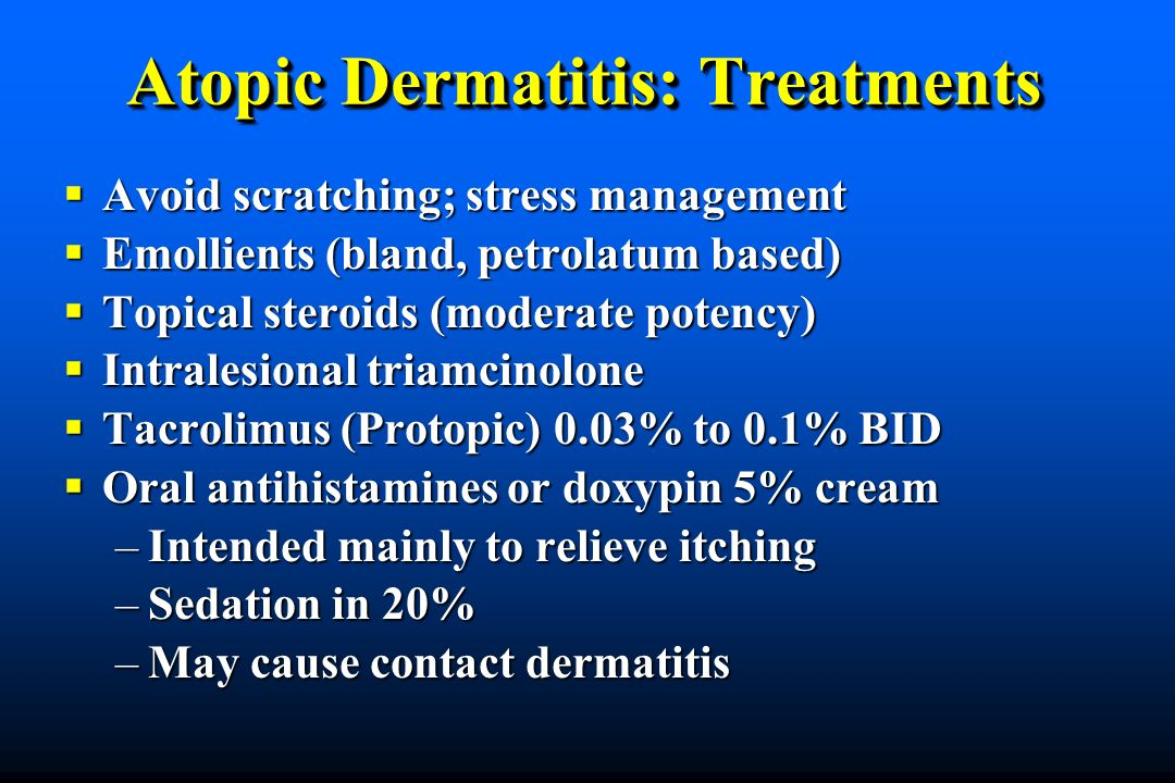 Atopic Dermatitis: Treatments