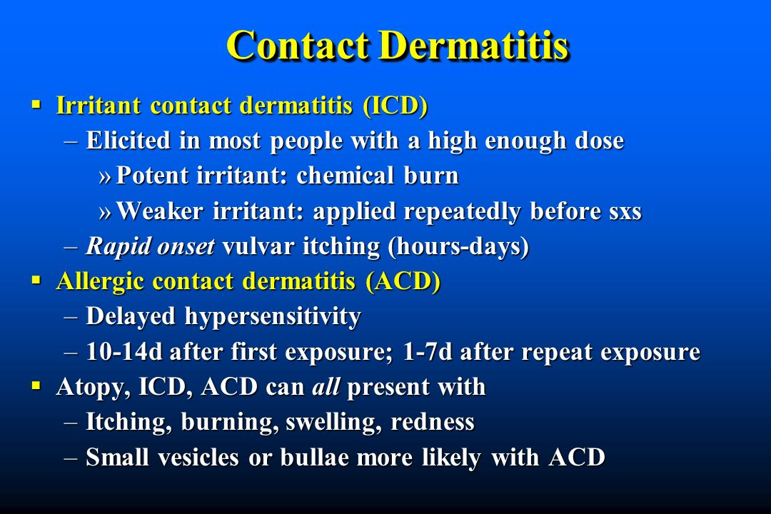 Contact Dermatitis Irritant contact dermatitis (ICD)