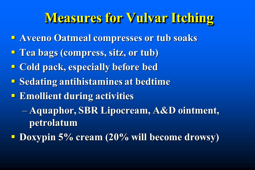 Measures for Vulvar Itching