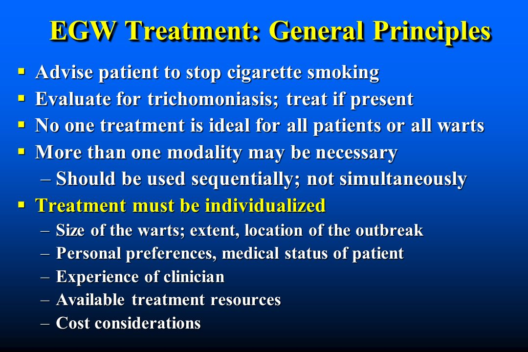 EGW Treatment: General Principles