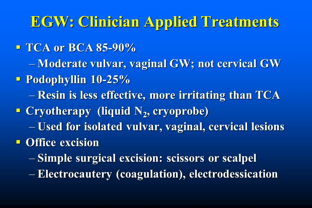 EGW: Clinician Applied Treatments