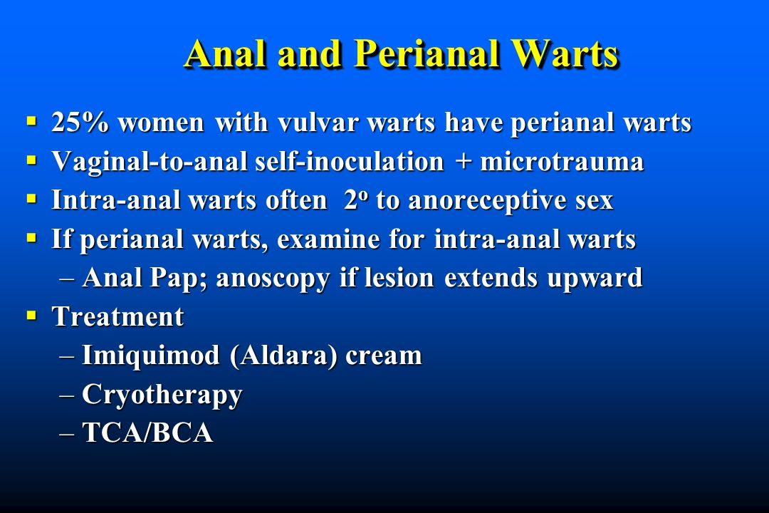 Anal and Perianal Warts