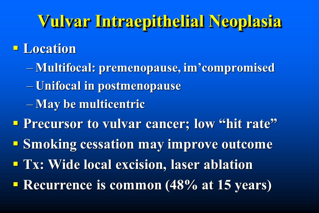 Vulvar Intraepithelial Neoplasia