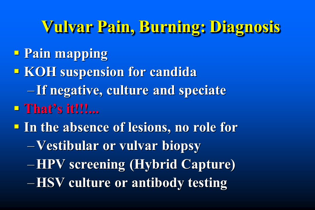 Vulvar Pain, Burning: Diagnosis