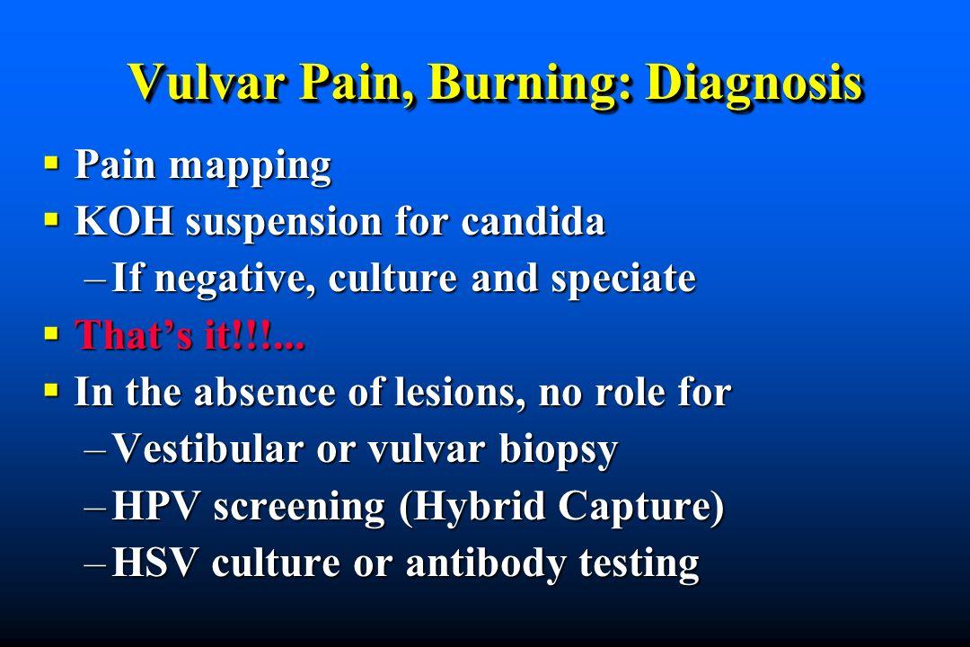 Vulvar Pain, Burning: Diagnosis