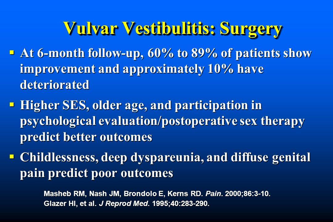 Vulvar Vestibulitis: Surgery