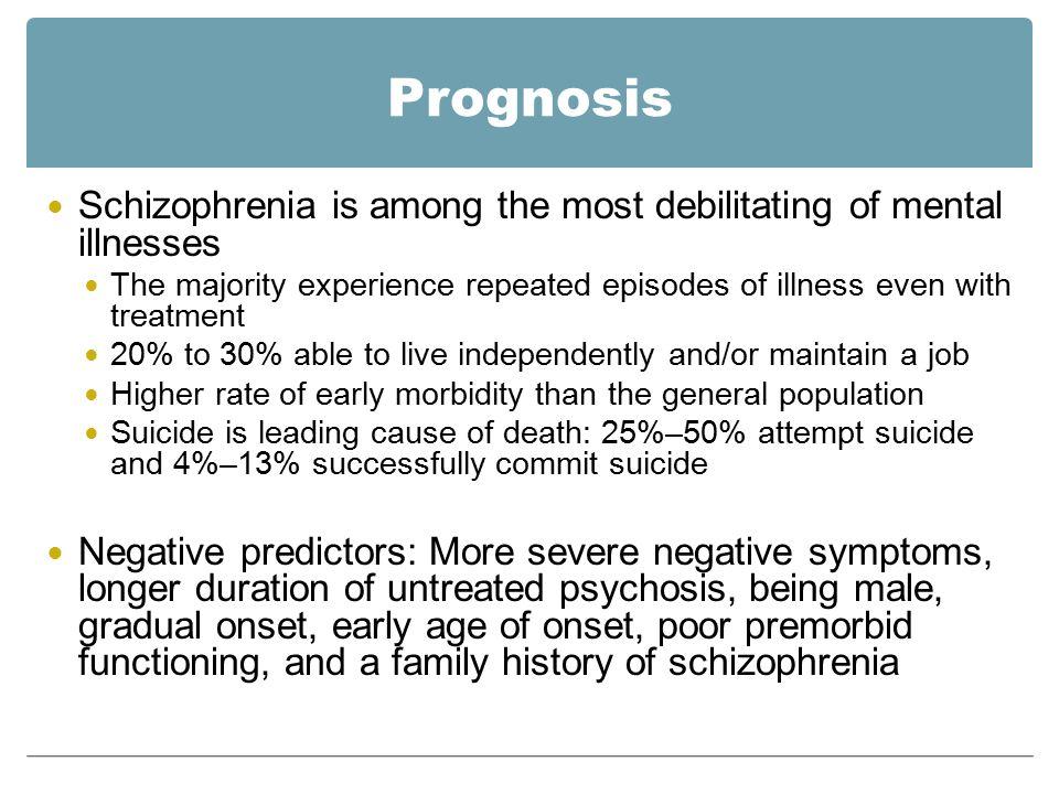 a description of schizophrenia as a chronic and debilitating mental illness