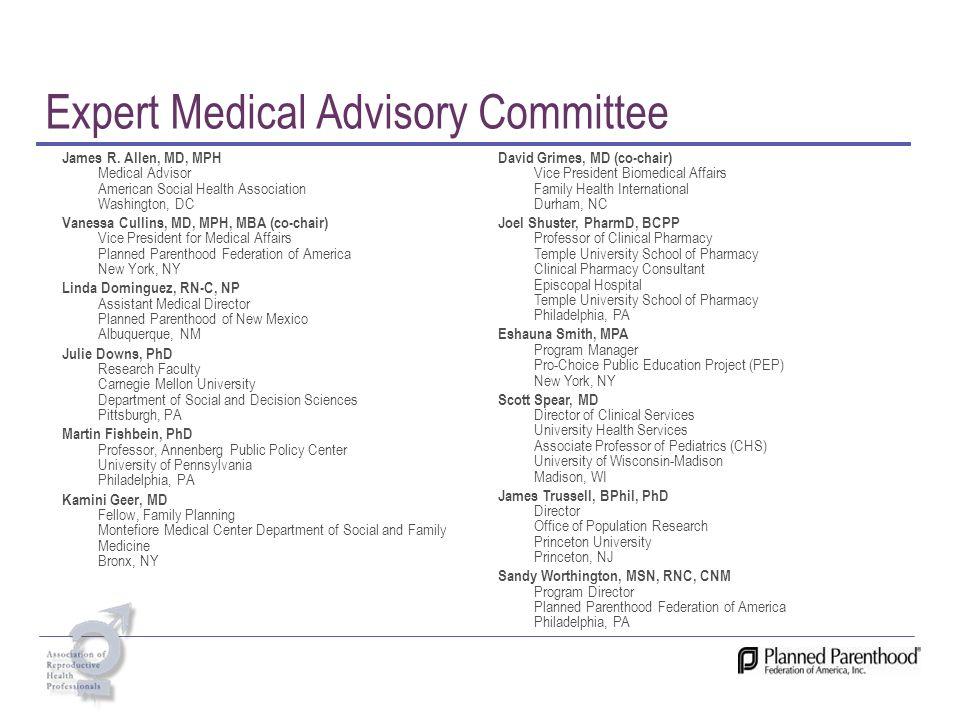 Expert Medical Advisory Committee