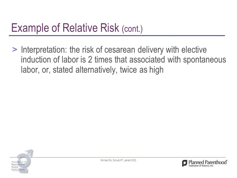 Example of Relative Risk (cont.)